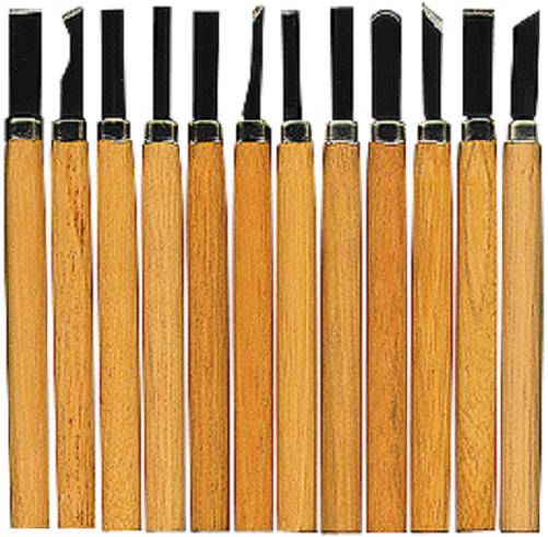 PREMIUM Holz Schnitzmesser Set Satz 12-tlg schnitzen Messer Hobby Schnitzset