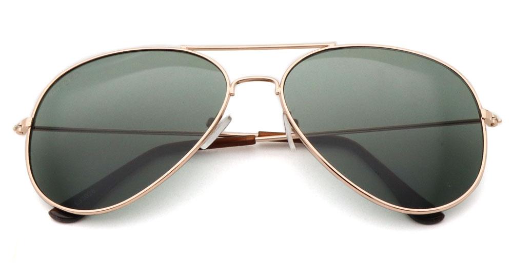 Sonnenbrille Schwarz Gold Braun
