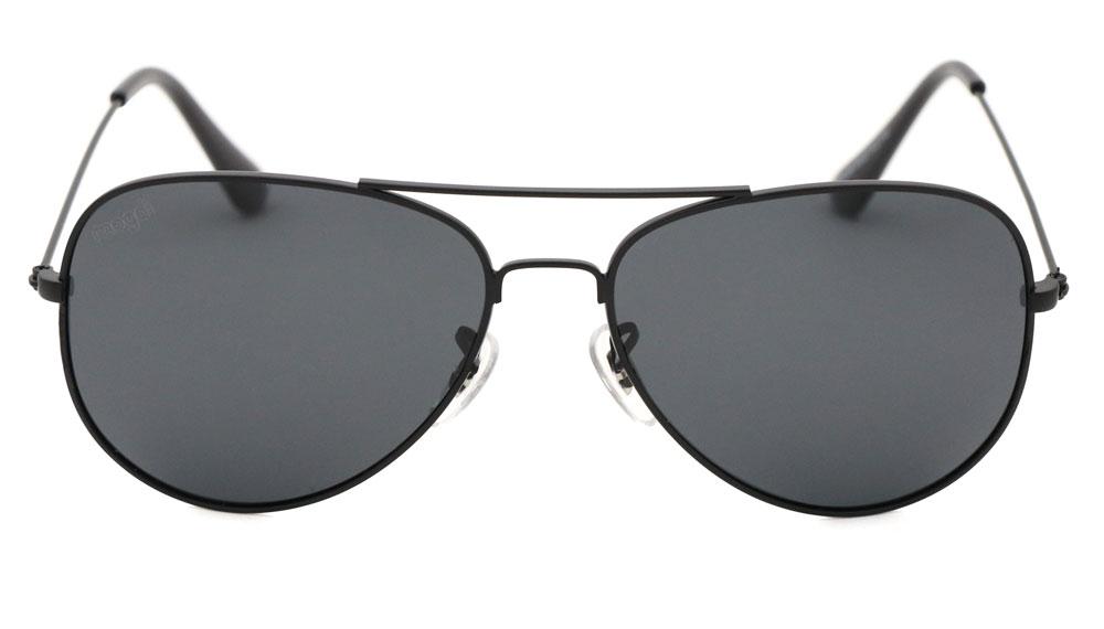 Sonnenbrille Schwarz-polarisiert Grau Schwarz