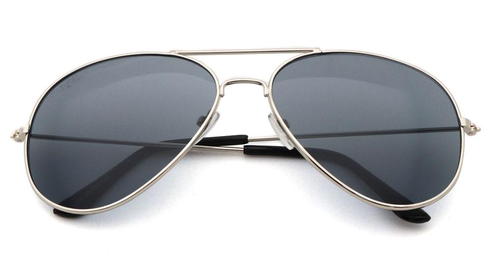 Sonnenbrille Schwarz Silber Schwarz