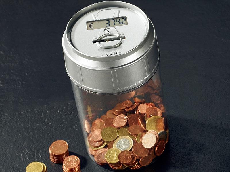 Spardose LCD Anzeige Münzzähler Sparschwein Euro Kleingeld Geldzähler  Maschine
