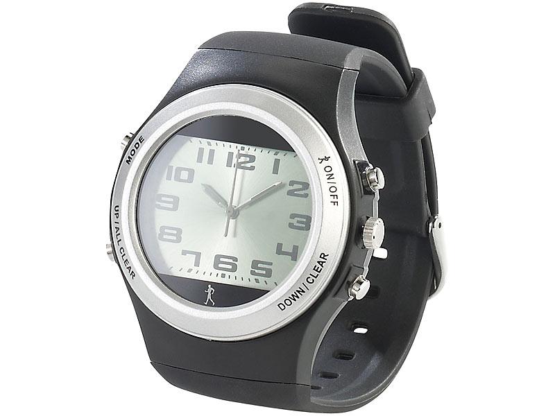 PROFI Sport Uhr Armbanduhr Sportuhr Pedometer Kalorienzähler Schrittzähler 3D