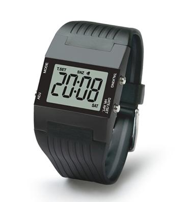 PROFI sprechende Armbanduhr Uhr mit Datum Ansage Uhrzeit Herren Damen Wecker