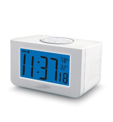PROFI Sprechende Funkuhr Uhr Wecker Ansage Uhrzeit Temperatur Luftfeuchtigkeit