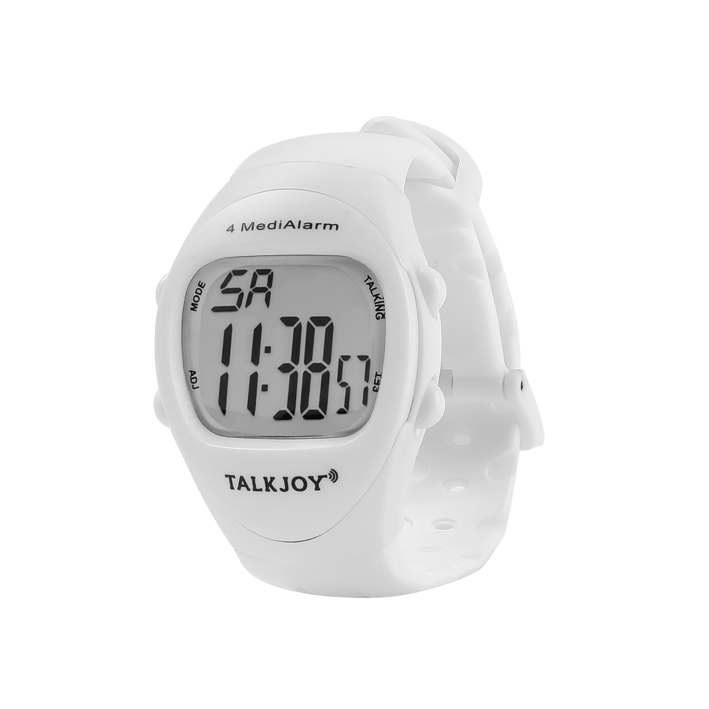 PRO Sprechende Uhr Armbanduhr mehreren 4 Weckzeiten Weckern Stoppuhr Alarmzeiten
