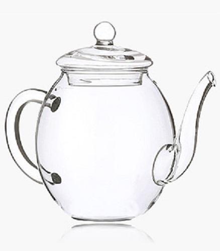 LUXUS Teekanne 500ml Kanne Glas Tee Creano Geschenk Erblühtee Glaskanne Kännchen
