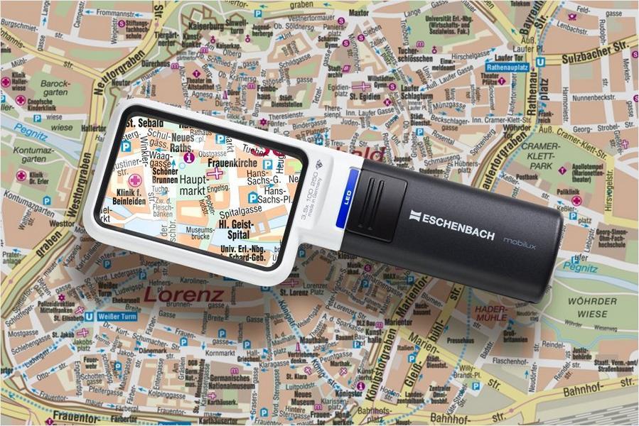 PROFI Handlupe Leselupe ESCHENBACH Mobilux SMD LED Taschenleuchtlupe Licht Lupe
