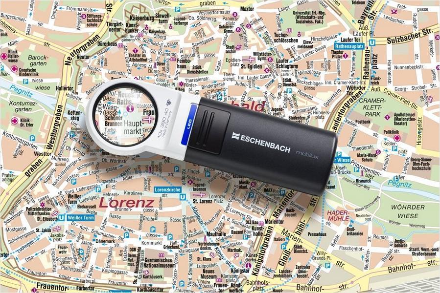 PROFI Handlupe Leselupe Mobilux LED 7 - 12,5 Vergrößerung Taschenleuchtlupe Lupe