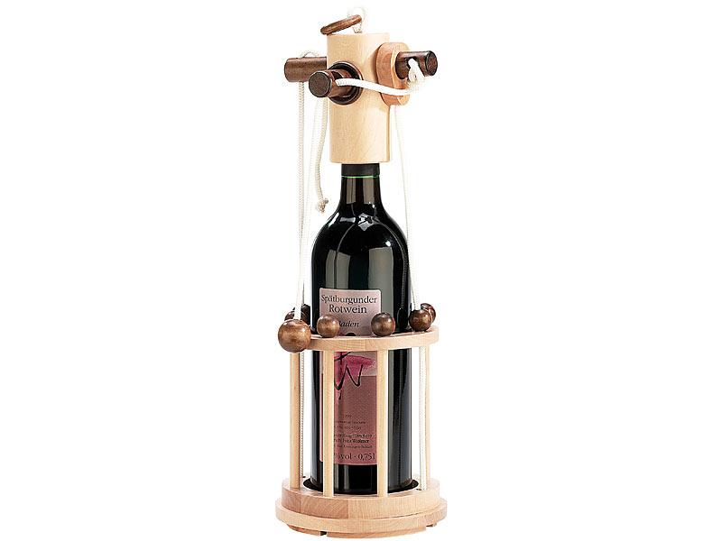 VERONA Wein Flaschenpuzzle Puzzle Flaschen Safe GESCHENKIDEE verschenken Holz