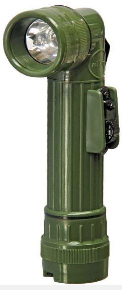 PROFI BW Taschenlampe Morse Kit Set 9 LED olivgrün Farbfilter Winkeltaschenlampe